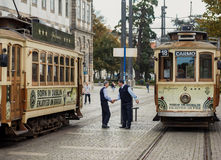 Famous old tram in Porto Royalty Free Stock Image
