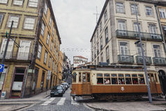 Famous old tram in Porto Royalty Free Stock Photography