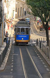 The famous old tram on street Lisbon Royalty Free Stock Photos