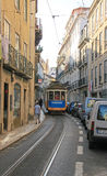 The famous old tram on street Lisbon Stock Images