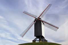 The famous old windmills from Brugge (Bruges) in Flanders Belgium Royalty Free Stock Images