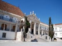 Famous oldest university of Coimbra(Portugal) Royalty Free Stock Photos