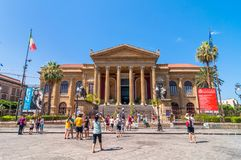 Famous opera house Teatro Massimo in Palermo, Sicily, Italy Stock Photo