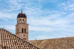 Famous Orange Rooftops of Dubrovnik Croatia Cityscape Aerial Vie Stock Photos