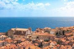 Famous Orange Rooftops of Dubrovnik Croatia Cityscape Aerial Vie Stock Image