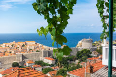 Famous Orange Rooftops of Dubrovnik Croatia Cityscape Aerial Vie Royalty Free Stock Photo