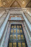 The famous ornate bronze Holy Door Royalty Free Stock Photos