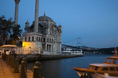 Ortakoy Mosque in Istanbul by Night Stock Image