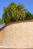 Famous outer wall of the palace of the Alcazaba in Malaga Spain Stock Photos