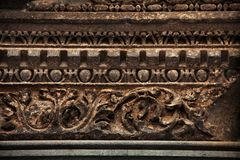 Ancient Roman Style decorative stone carving stock images