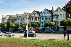 Famous Painted Ladies photo attraction Royalty Free Stock Images