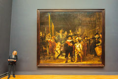 The famous painting Night Watch by Rembrandt at the Rijksmuseum
