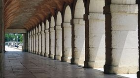 Gallery. Architectural detail. Royal Palace of Aranjuez on a sunny summer day. Spain. The famous Palace of Aranjuez on a sunny summer day. Gallery Stock Images