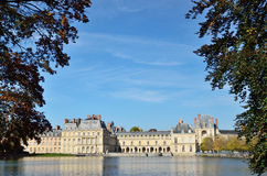 Famous palace of Fontainebleau Stock Photography