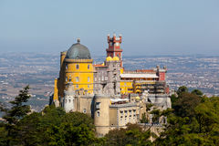 Famous palace of Pena in Sintra, Portugal Stock Photography