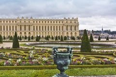 Famous palace Versailles with beautiful gardens. The Palace Versailles was a royal chateau. It was added to the UNESCO list of World Heritage Sites. Paris Royalty Free Stock Photography