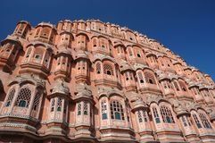 Famous Palace of winds or Hawa Mahal in Jaipur,Rajasthan,India. Unesco heritage site Stock Photo