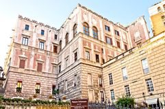 Famous Palazzo Cellamare in Naples, Italy Royalty Free Stock Images