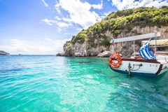 Paleokastritsa bay on Corfu, Greece. Famous Paleokastritsa bay on Corfu Island, Greece Stock Image