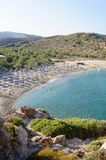 Famous palm beach of Vai, island of Crete, Greece Stock Photography