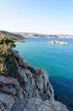 Famous palm beach of Vai, island of Crete, Greece Stock Image