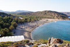 Famous palm beach of Vai, island of Crete, Greece Royalty Free Stock Images