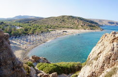 Famous palm beach of Vai, island of Crete, Greece Royalty Free Stock Photography