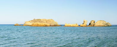 Famous palm beach of Vai, island of Crete, Greece Royalty Free Stock Photo