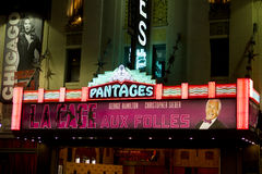 Famous Pantages Theatre Royalty Free Stock Photo