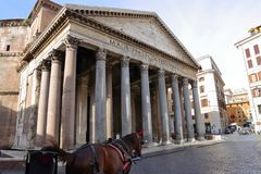 Famous Pantheon in Rome, Italy Stock Photography