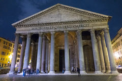 The famous Pantheon in Rome - the oldest church in the city royalty free stock photography