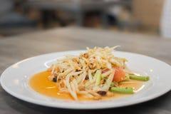 Famous papaya salad thai style. Famous papaya salad thai stylebackground Stock Image