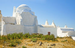 Famous paraportiani church on Mykonos Royalty Free Stock Photography