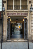 The famous parisian passage du Caire, France. Paris, France-June 17, 2017:The Passage du Caire is the oldest covered arcade in Paris. Situated in the Sentier Stock Photography