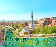 The famous Park Guell Stock Photography