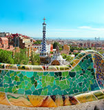 The famous Park Guell Royalty Free Stock Photography