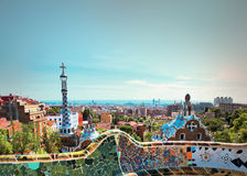 The famous Park Guell Stock Image