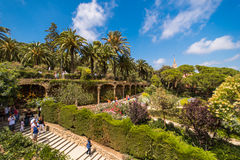 The famous Park Guell Royalty Free Stock Photo