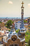 The famous park Guell in Barcelona, Spain Stock Images