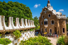The famous park Guell in Barcelona, Spain Stock Photos