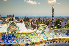 The famous park Guell in Barcelona, Spain Stock Photo