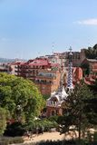 The famous Park Guell on July 8, 2014 Stock Images