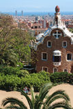 Famous Park Guell on May 11, 2013 in Barcelona, Spain. Parc Guell was built from 1900 to 1914 for the project Antoni Gaudi Stock Photos