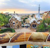 Famous Park Guell, Spain Royalty Free Stock Images