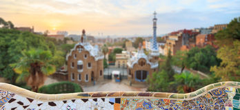 Famous Park Guell, Spain Stock Photos