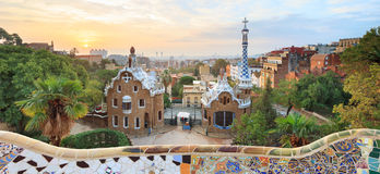 Famous Park Guell, Spain Stock Photography