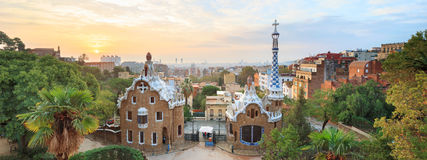 Famous Park Guell, Spain Royalty Free Stock Image