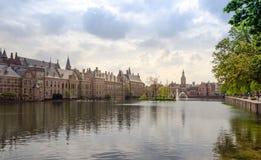 Famous parliament building complex Binnenhof in The Hague. Stock Photography