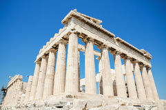 Famous Parthenon temple in the Acropolis, Athens, Greece. Royalty Free Stock Photo