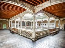 Famous Patio de la Casa de las Conchas, Salamanca, Spain Royalty Free Stock Photos